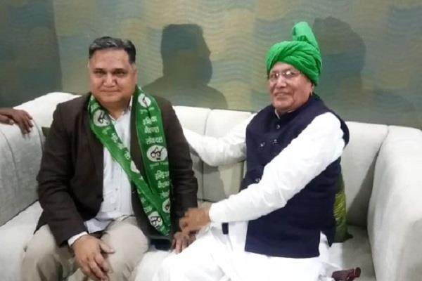 former congress mla from indri assembly joins inld party