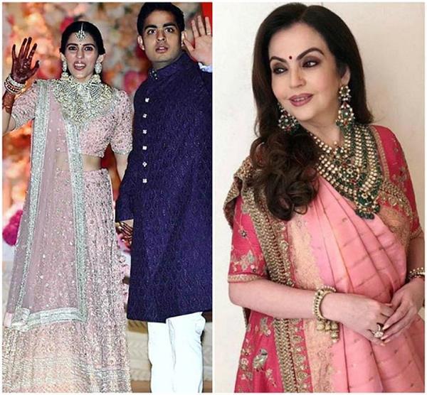 Akash-Shloka Wedding: शुरू हुआ जश्न, सब्यासाची की ड्रेस में दिखी नीता अंबानी
