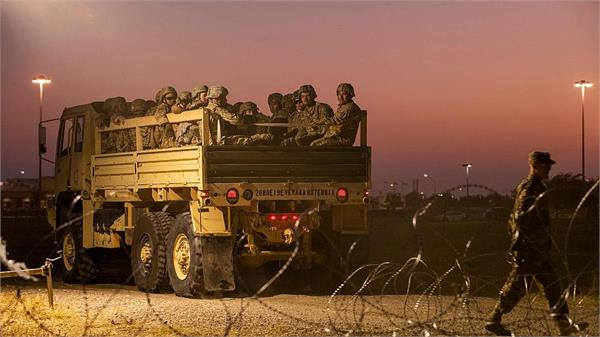 pentagon sending 3750 extra us forces to border with mexico