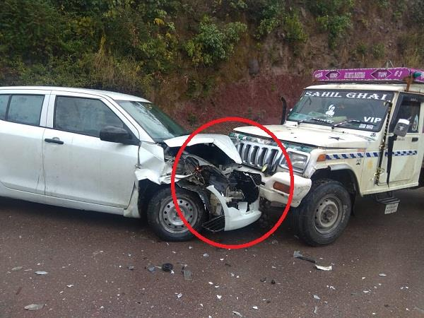 road accident on sunder nagar nh 21