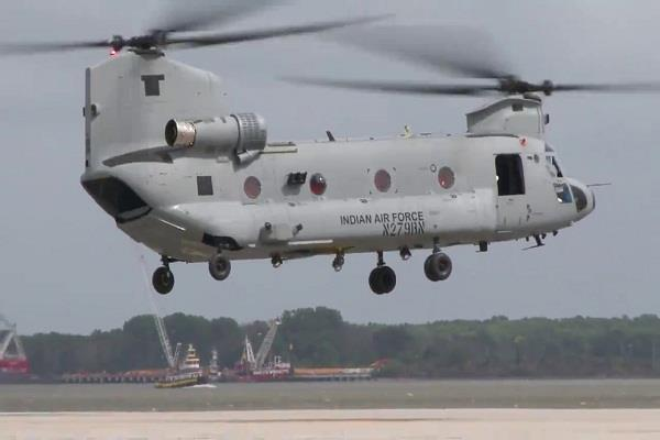 first consignment of four chinook helicopters handed to boeing by india