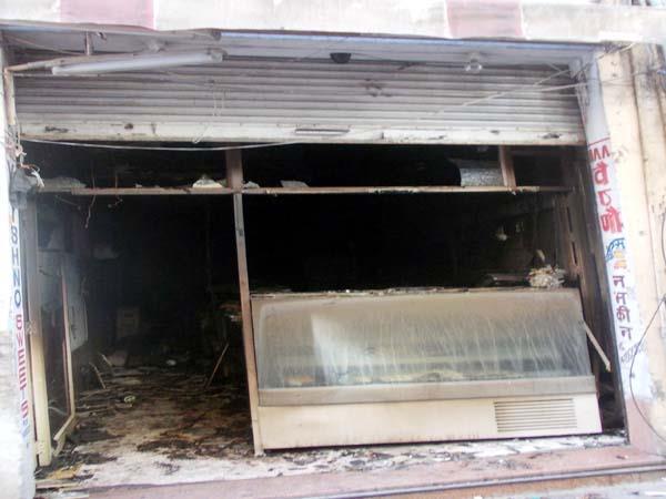 fierce fire in sweet shop loss of millions
