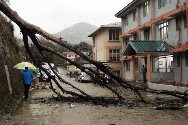 dharamsala storm rain sky power damage