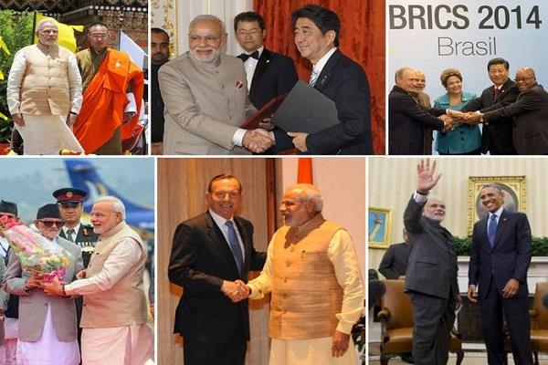 prime minister modi tour of 93 countries of 5 years