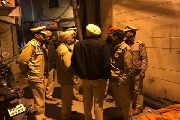 a clash between two factions in phagwara broken police vehicle