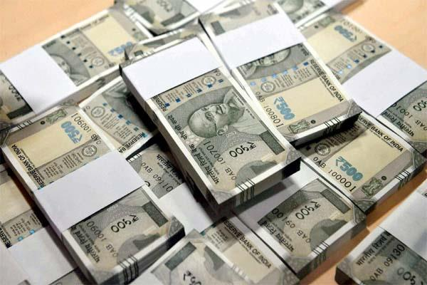 22 lakh recovered from van