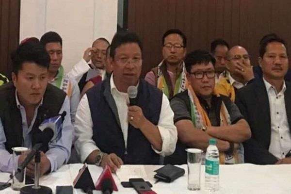 arunachal ministers six mlas left bjp joined npp