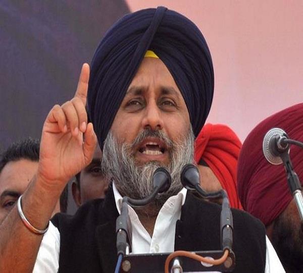 sukhbir badal speak against captain amarinder singh