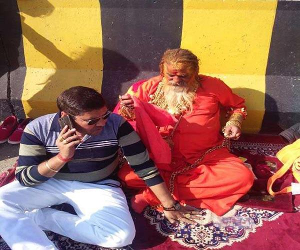 mathura golden baba injured in road accident