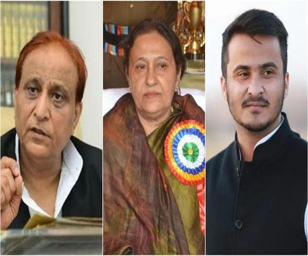 hearing of azam khan son and wife petition on march 25
