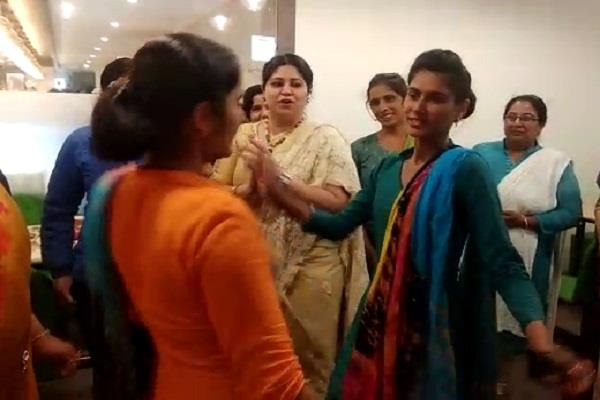 haryana hindi news women day celebrated in rewari ladies danced