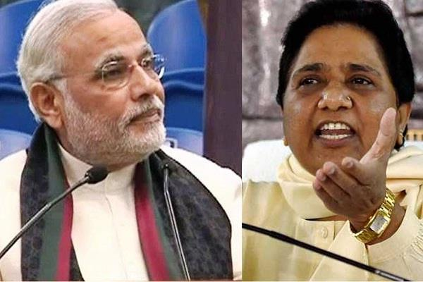 mayawati s heavy attack on bjp