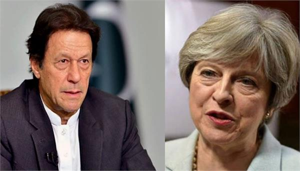 british pm theresa may discusses terrorism with imran khan on call