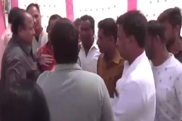 congranged congress and bjp bjp mlas held bhoomipujan