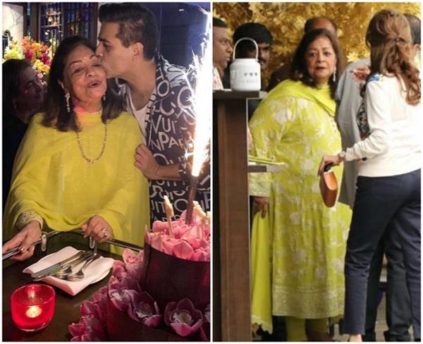 करण ने मम्मी हीरू जौहर के लिए रखी बर्थडे पार्टी, डीसेंट लुक में नजर आए स्टार्स (See Pics)