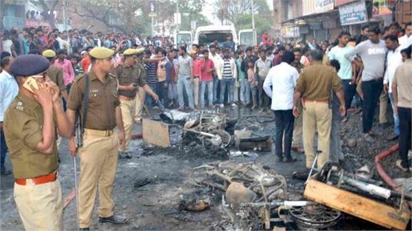 six dead in fire in azamgarh s firecracker fire godown