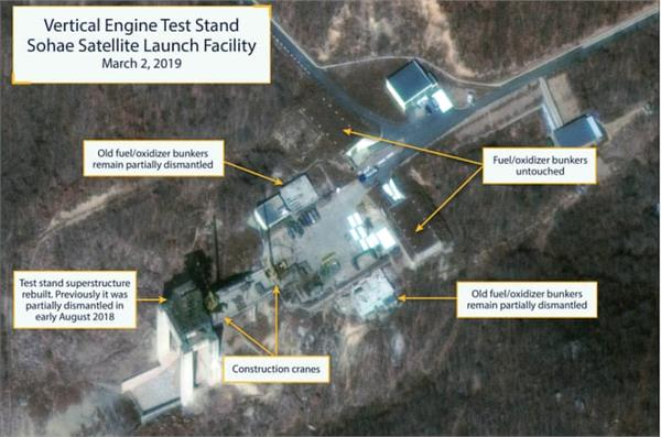 north korea is doing the reconstruction of satellite launch site