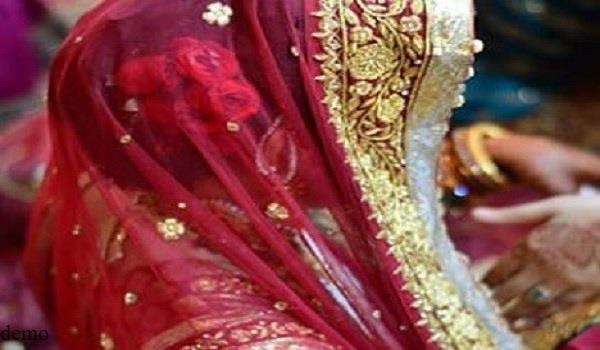 bride looking at elderly groom