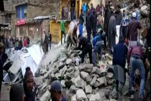 landslide in doda 36 shops burried under debris