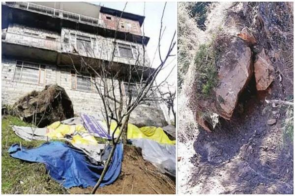 manali at risk of landslides in the village houses
