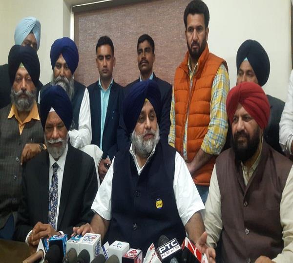 sukhbir badal speak against captain amarinder