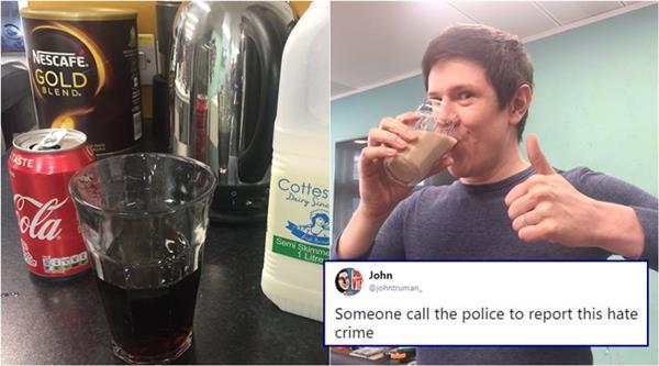 comedy writer james felton drink milk coke birmingham people called delicious