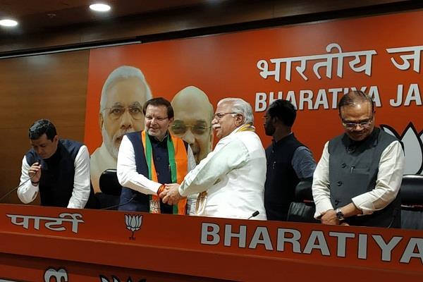 former mp arvind sharma joins bjp
