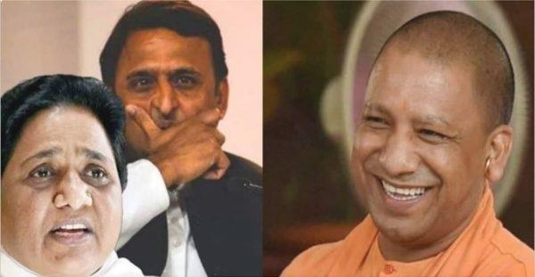 yogi attacks sp bsp coalition