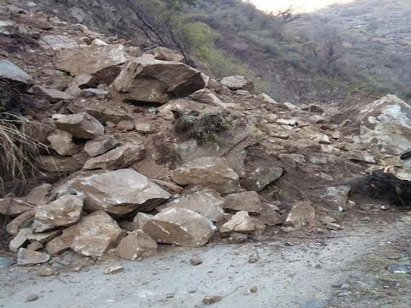 landslide in sainj valley