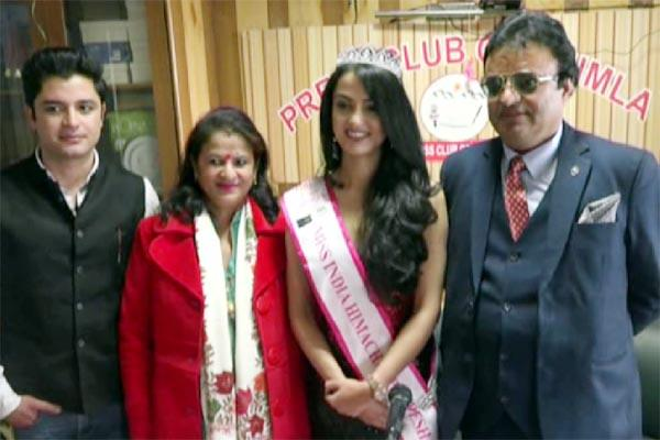 shimla s garima enhanced the value captured on miss india himachal title