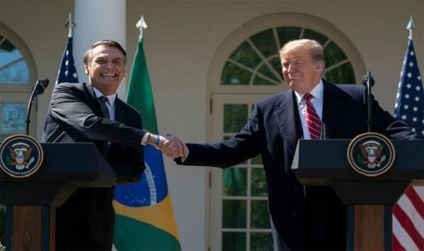 trump says strongly considering nato privileges for brazil