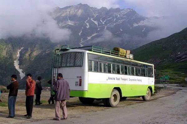 hrtc bus stop running from sundernagar to salwana trouble facing the people