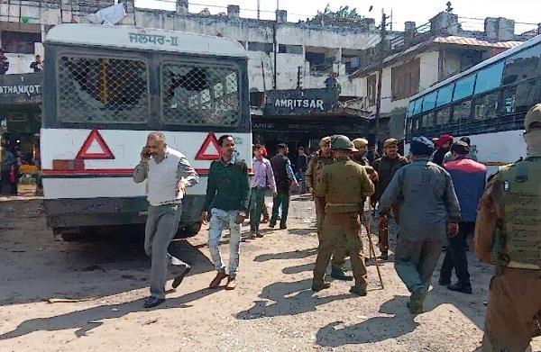 grenade attack near jalandhar bus in jammu