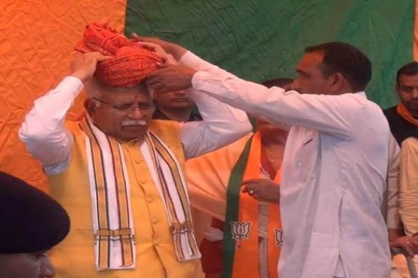 cm manohar lal khattar conducted road show in 4 villages