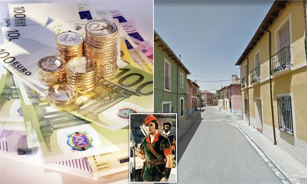 mystery of  robin hood  who leaves cash anonymously for spanish