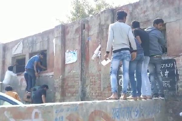haryana hindi news cheating during exam on first day of haryana board papers