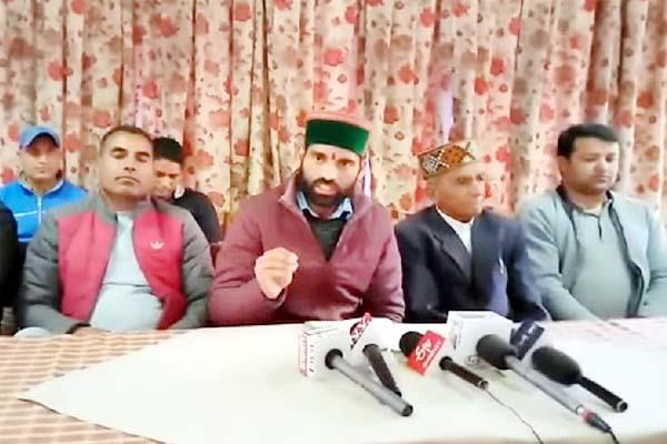 congress st cell anger on the statement of shanta