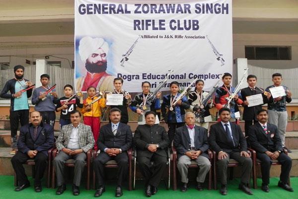general zorawar singh rifle club felicitate shooters