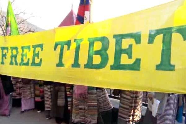 protest in shimla about tibet s freedom tibetan women this demand from pm