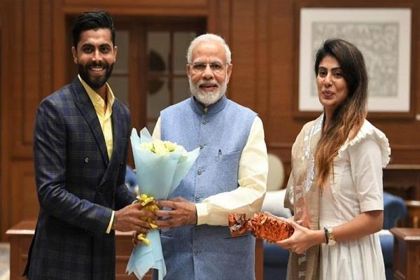 cricketer jadeja s wife joins bjp inspires modi to inspire