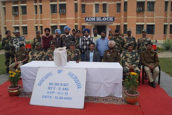 bsf seized rs 46 crore heroin fazilka sector