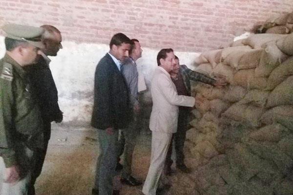 manpura food supply minister floor mill raid
