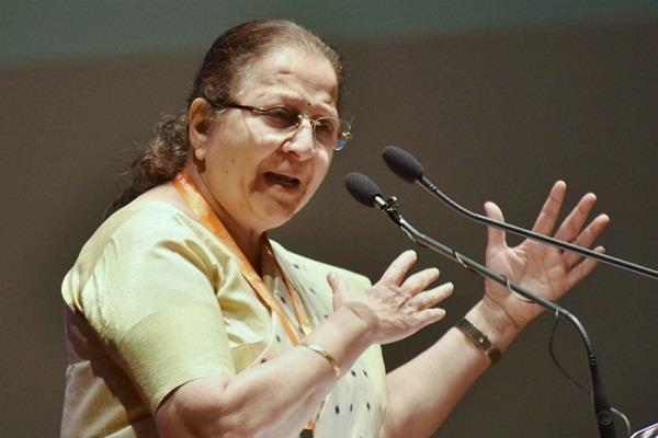 83 year old leela bhai vaghela too chopped sumitra mahajan angry