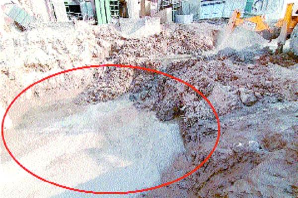 building the leakage of sewerage in multi parking construction