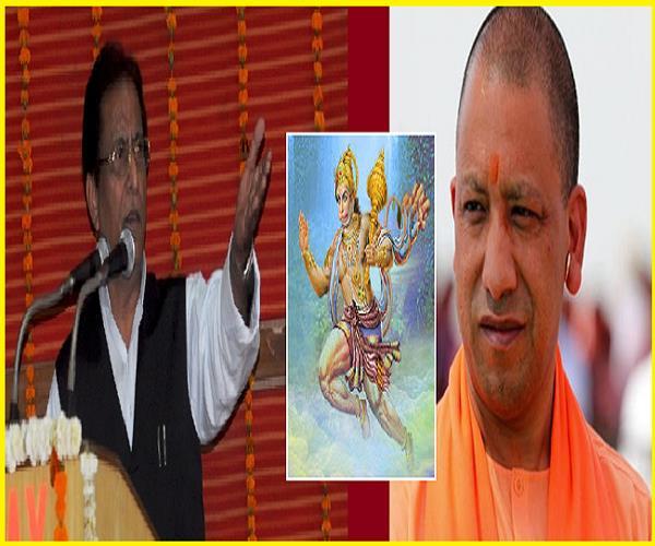 azam did the trickster on yogi said bajrangi ali broke the enemy s hose