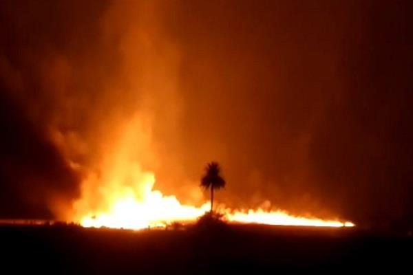 fire in 84 villages one killed 25 scorched by