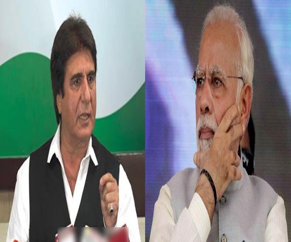 whatever modi puts it a question mark is placed on it raj babbar