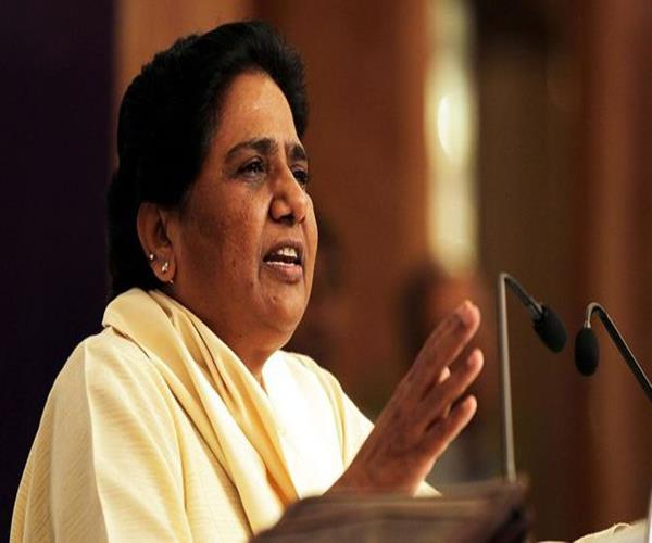 mayawati targets maneka and yogi