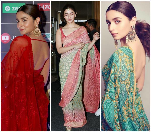 Fashion: साड़ी के साथ आलिया ने लगाया सिंपल मांग टीका, देखिए 5 स्टनिंग लुक