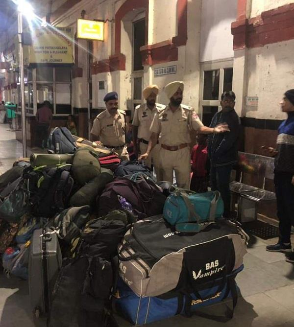 checking in railway station
